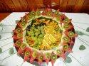 představa dekorace jídla...