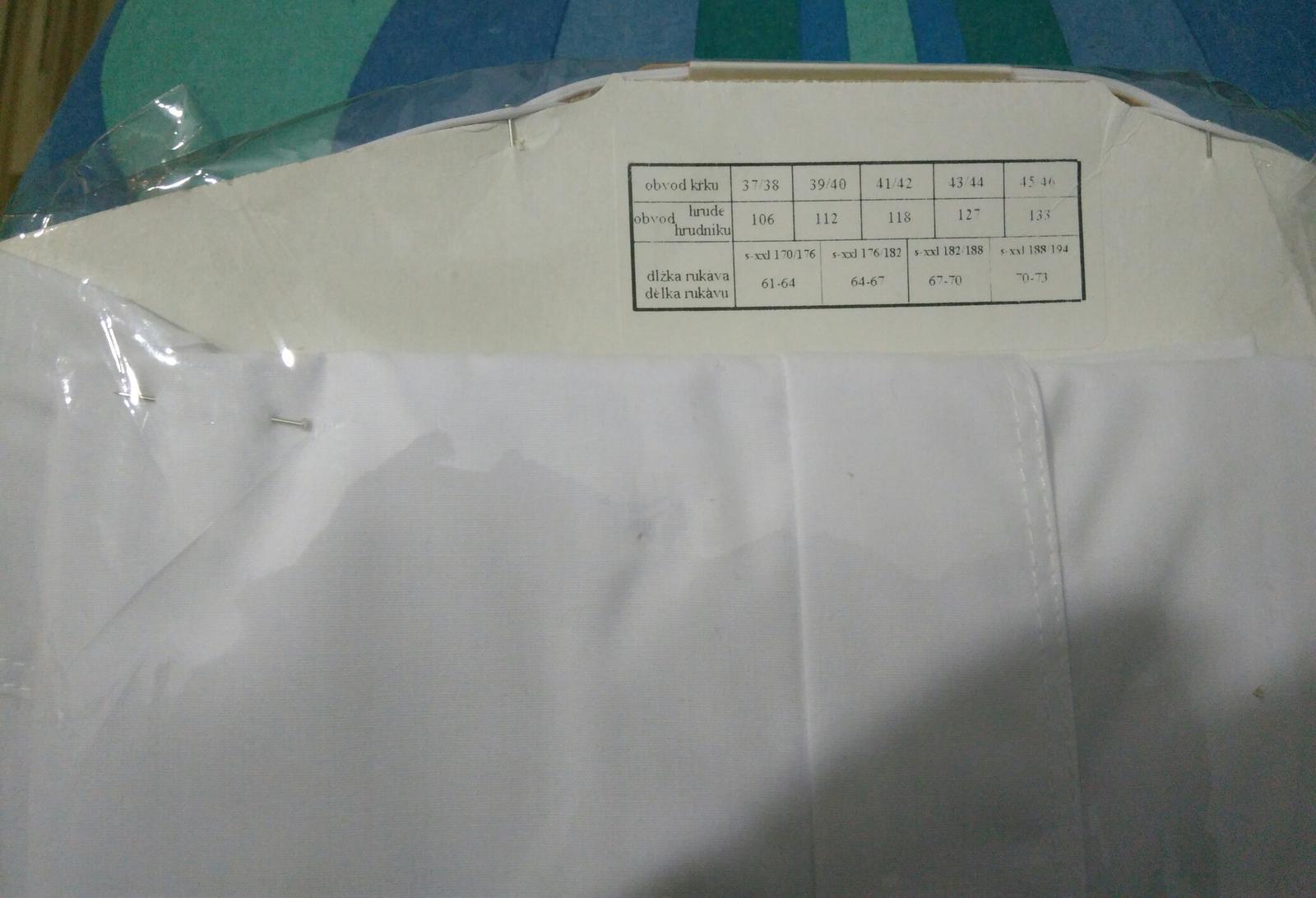Košeľa spoločenská Snehovo-biela - Obrázok č. 2