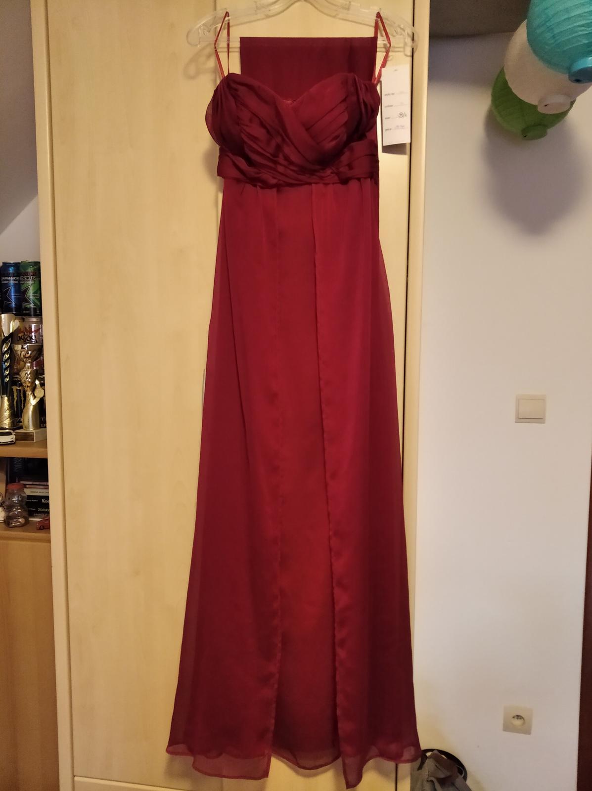 Cyklámenové dlhé šaty - 34 - Obrázok č. 2