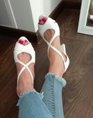 biele sandalky geox, 36
