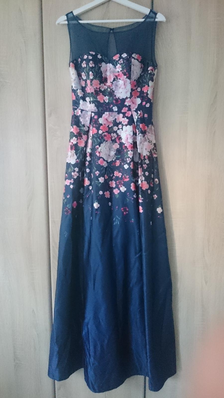 Kvietkované dlhé šaty - Obrázok č. 1