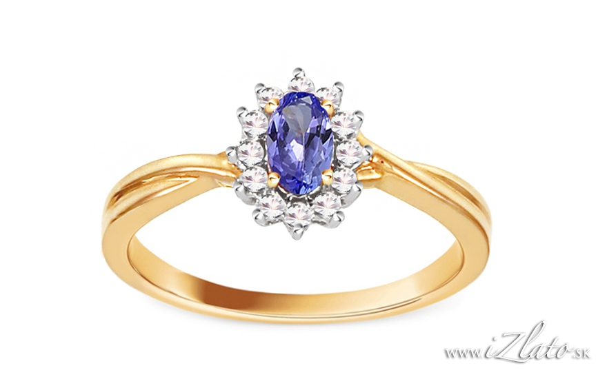 Zásnubné prstene - http://izlato.sk/zlato/zasnubne-prstene/s-briliantom/zasnubny-prsten-s-tanzanitom-a-diamantmi-0-100-ct-adriene-p123001.html
