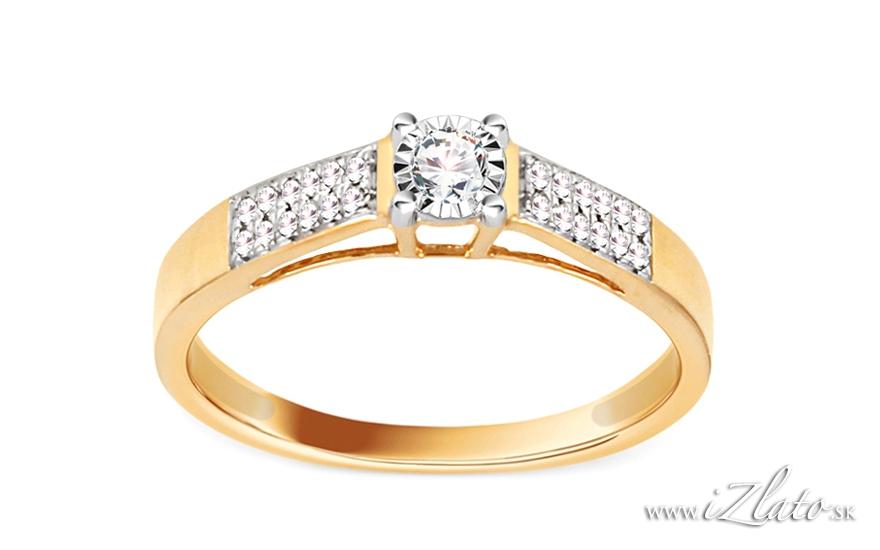 Zásnubné prstene - http://izlato.sk/zlato/zasnubne-prstene/s-briliantom/zlaty-zasnubny-diamantovy-prsten-0-200-ct-illusion-vision-2-p123002.html