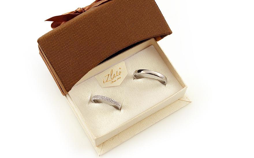 Diamantové svadobné obrúčky 0,230 ct Yasmine diamonds 2,6 mm - IZOBBR019A