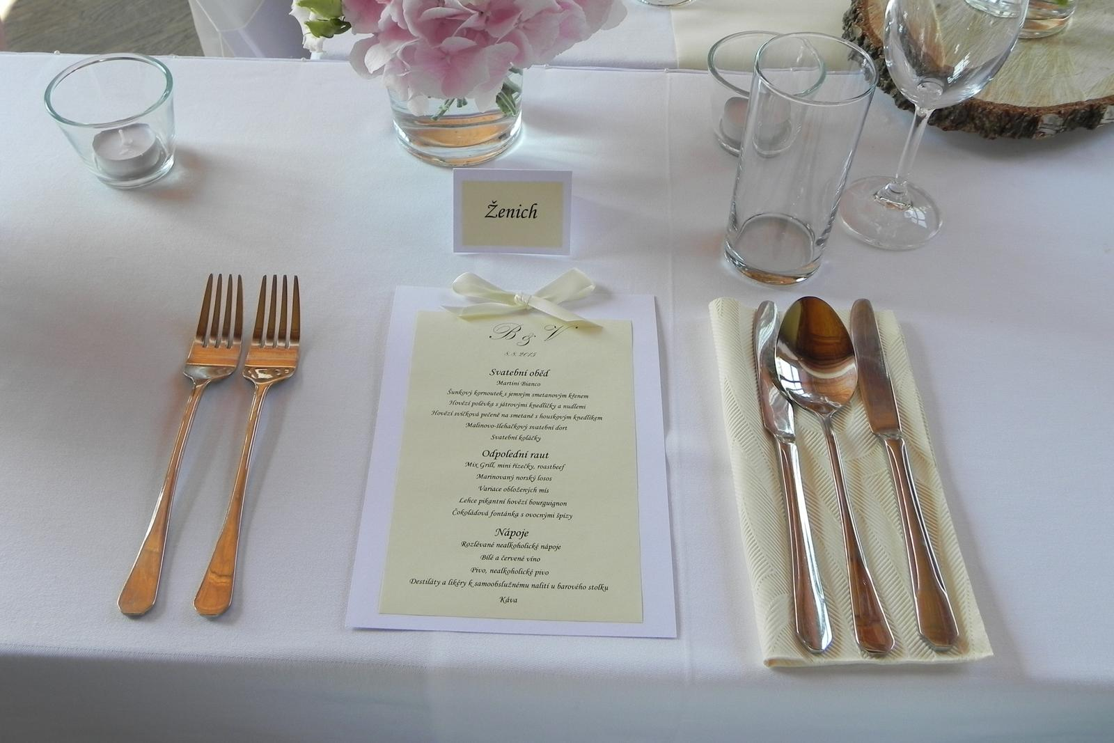 Svatba ve smetanové a sv.růžové - Svatební služby můžete objednávat na emailu: petra.svobodova@mojeparty.cz