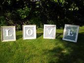 Prostorová dekorace LOVE,