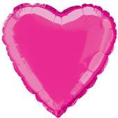 Balónek fóliový srdce - hot pink,