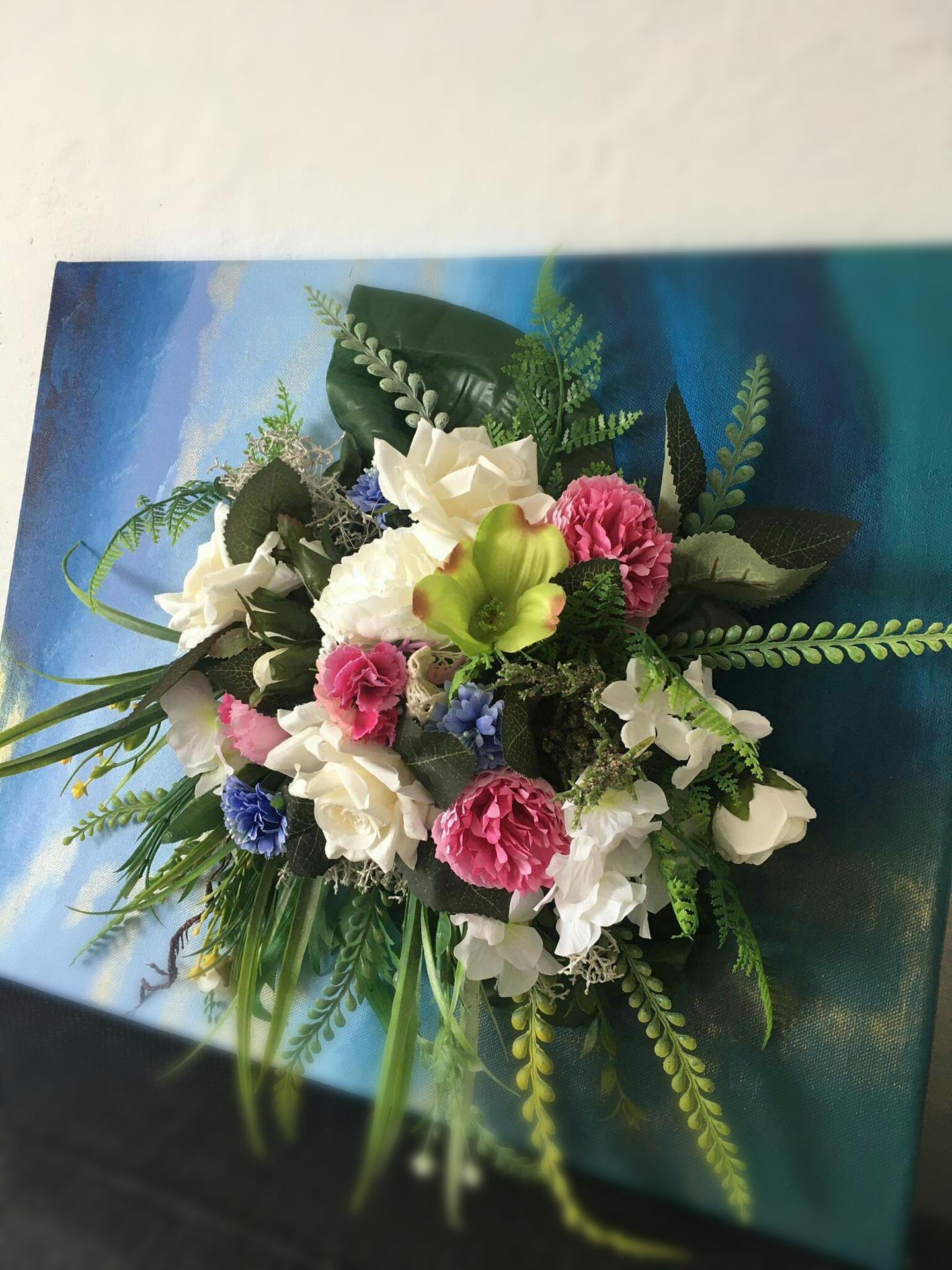 Kvetinový obraz,50x40cm - Obrázok č. 1