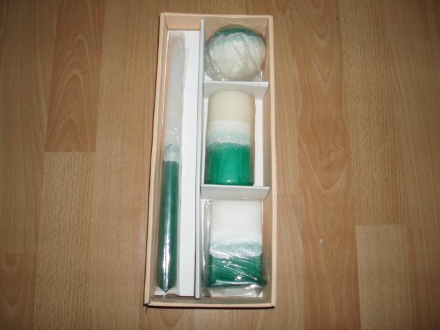 4 nepoužite zelené sviečky - Obrázok č. 1
