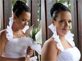 Svadobné šaty veľkosť 44+-, 44