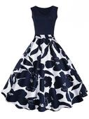 Modro biele kvetove šaty , 40