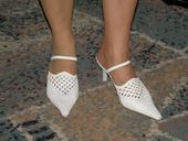 Biele remienkové sandálky, 37