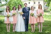 Originální šaty pro družičku nebo svatebního hosta, 42