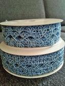 Modrá textilní stuha,