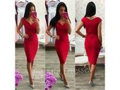 červené šaty krátke, 40