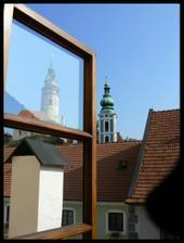po probuzeni vyhled z okna v Krumlove