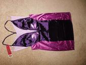 Fialovo-fuchsiová košilka + kalhotky, L