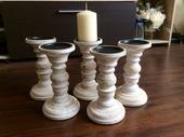Dřevěné svícny 5-10ks,