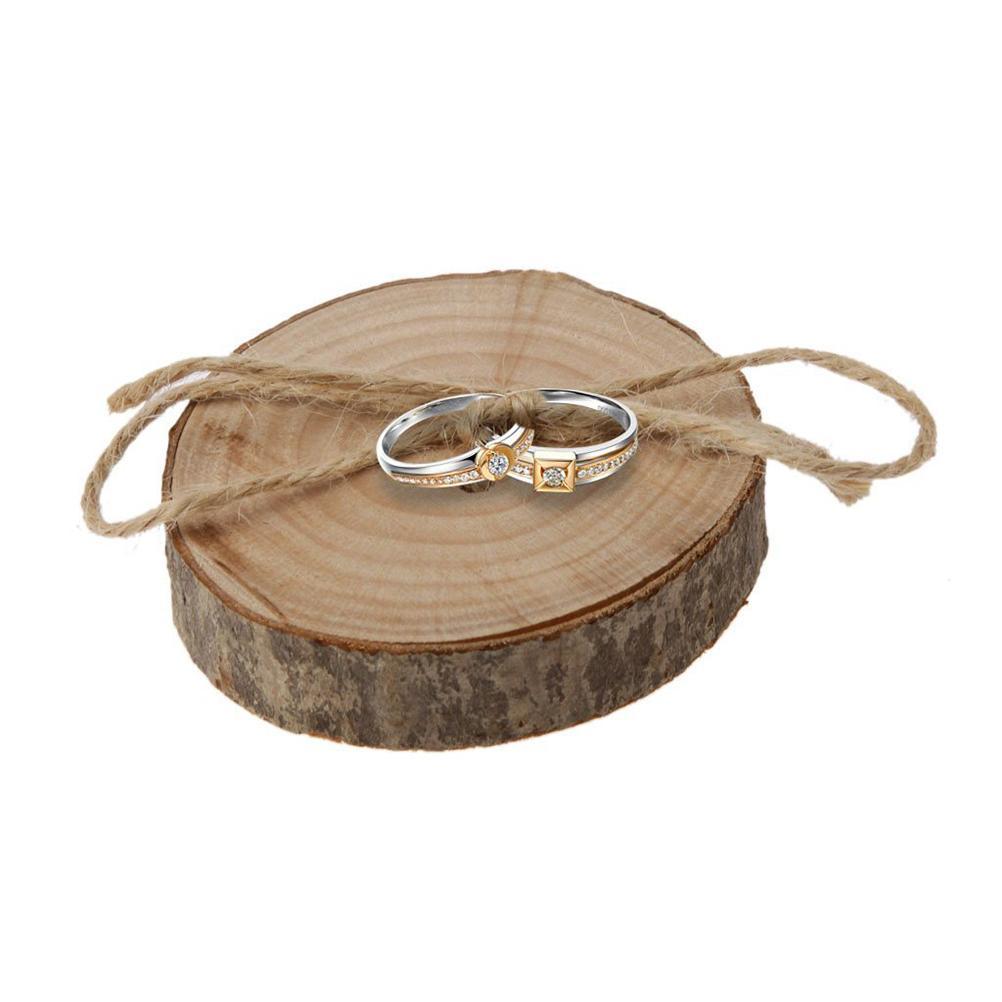 Dřevěný plátek pod prstýnky - Obrázek č. 1