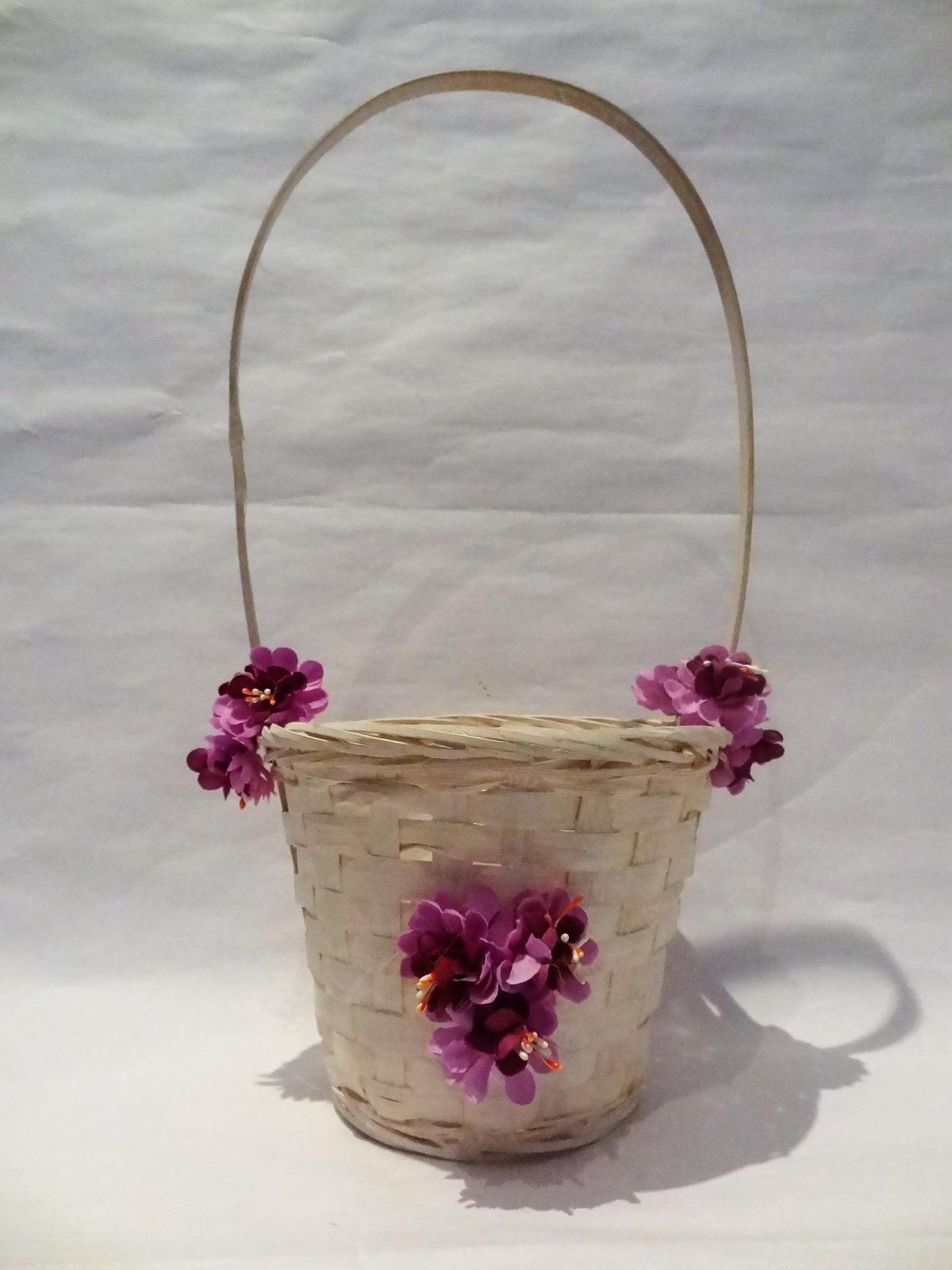 Košíček pro družičku - barva na přání - Obrázek č. 1