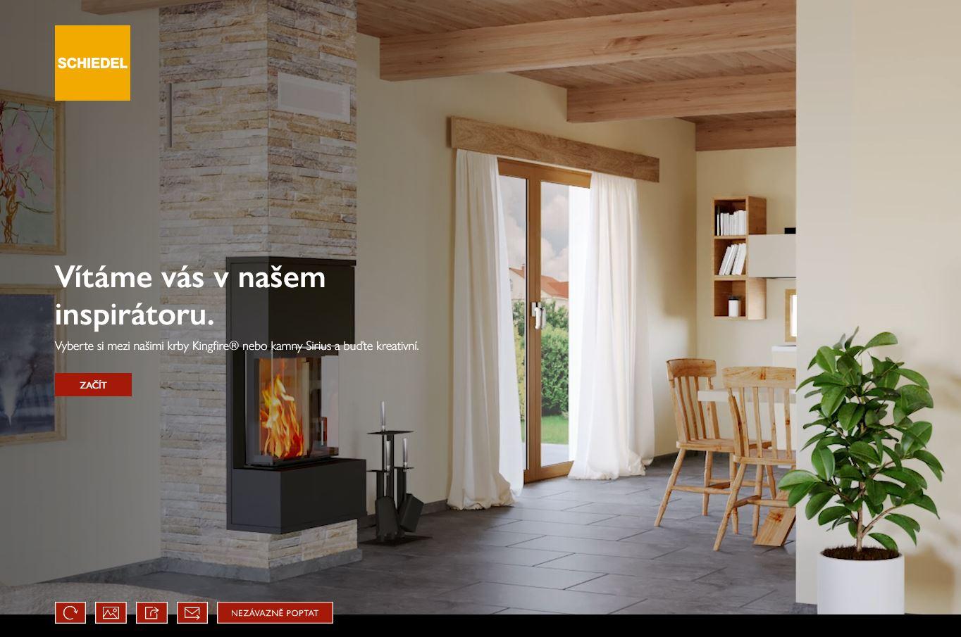 Pohrajte si s umístěním krbu v interiéru a inspirujte se k vlastnímu řešení: https://www.schiedel.com/cz/uzitecne/krbovy-konfigurator/ - Obrázek č. 1