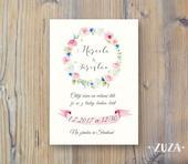 Svatební oznámení květinové,