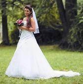 Svatební šaty - sněhově bílé , 40