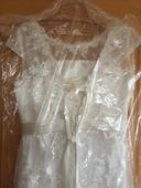 svatební koktejlové šaty, zhotovené na míru, 40