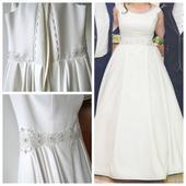 Jednoduché saténové svadobné šaty, 40