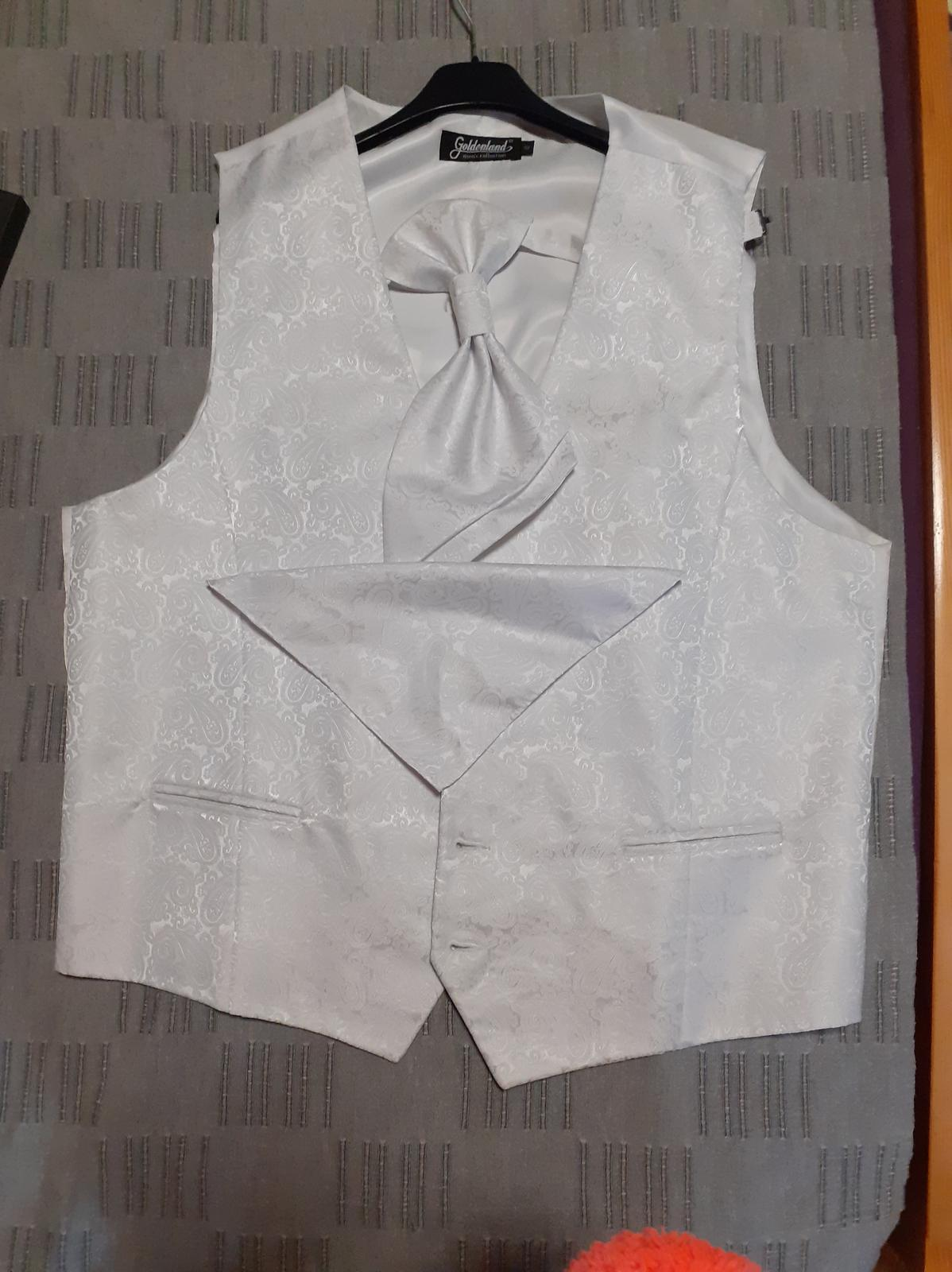 Vesta+kravata+šatka - Obrázok č. 1