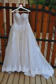svadobne šaty s večkou, 40