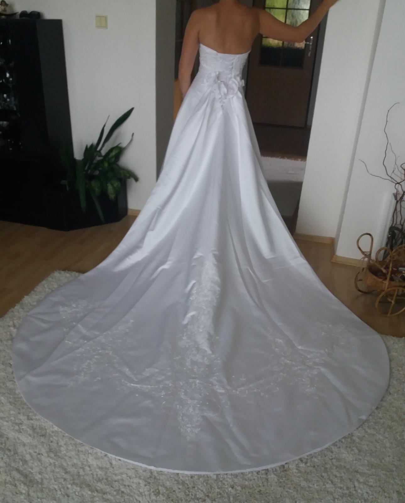 Svadobné šaty veľkosť 36-38 - Obrázok č. 1