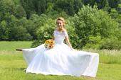 Svadobné šaty, závoj, spondnička, 38