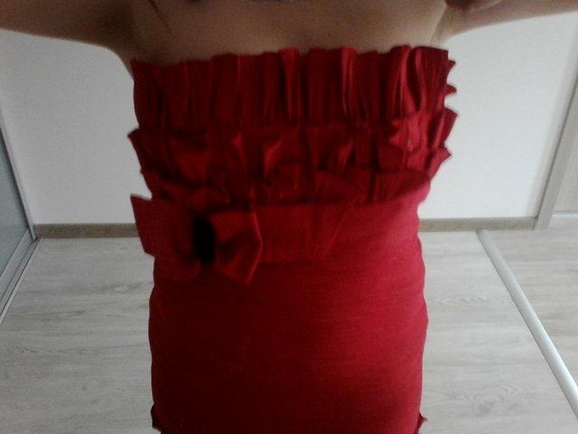 Červené šaty vel. 40 - Obrázok č. 1