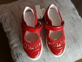 Kožené červené balerínky - nenosené, 25