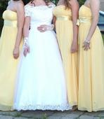 Žlté spoločenské šaty vel. M, M
