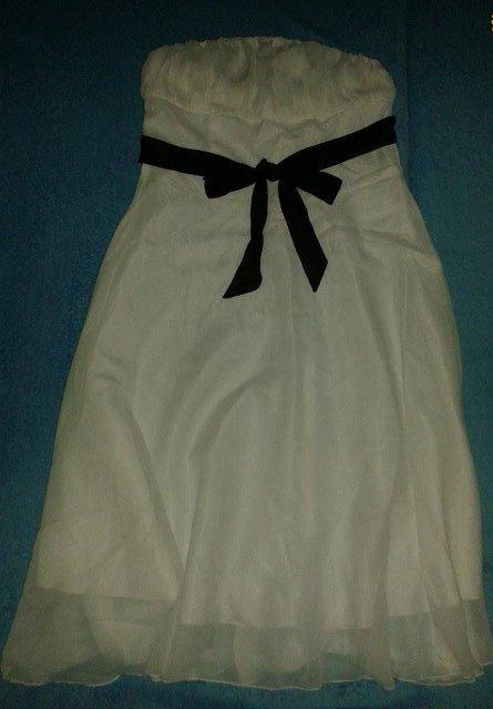 Smotanové šaty veľ. cca S - riaďte sa mierami  - Obrázok č. 3