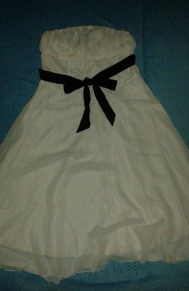 Smotanové šaty veľ. cca S - riaďte sa mierami  - Obrázok č. 2