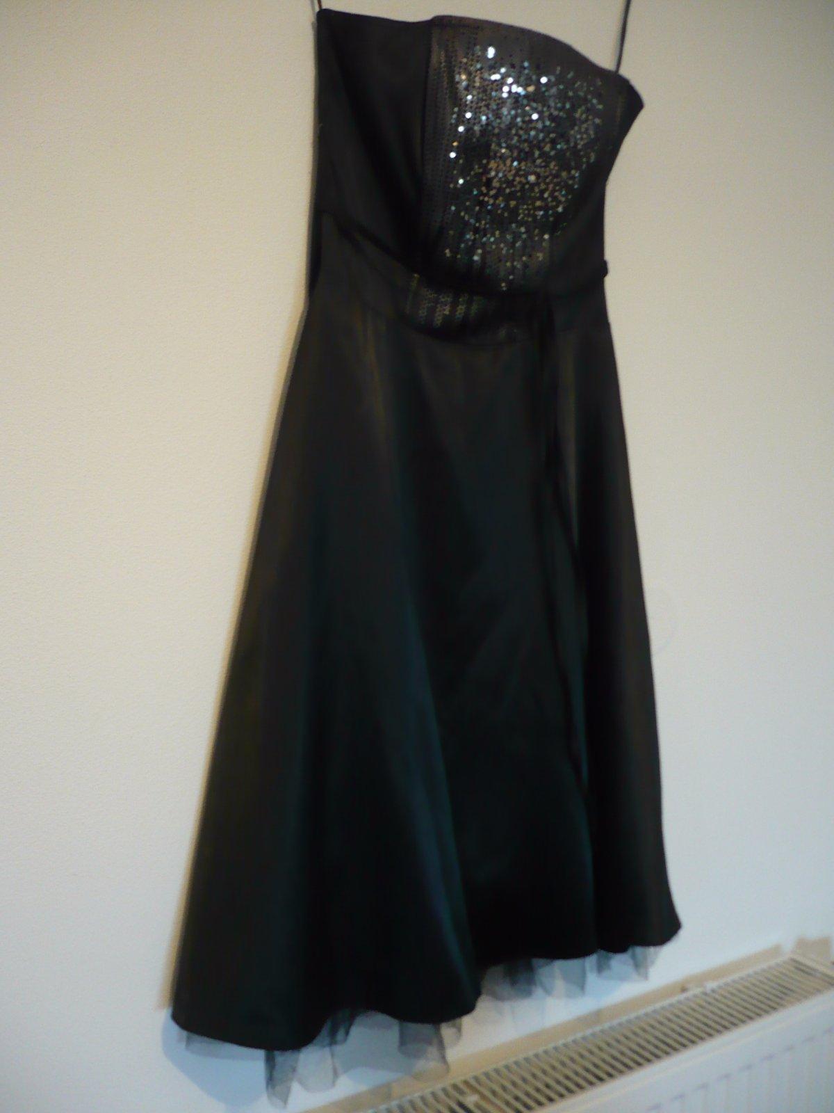 Elegantné saténové šaty vel. 36/38  - Obrázok č. 4