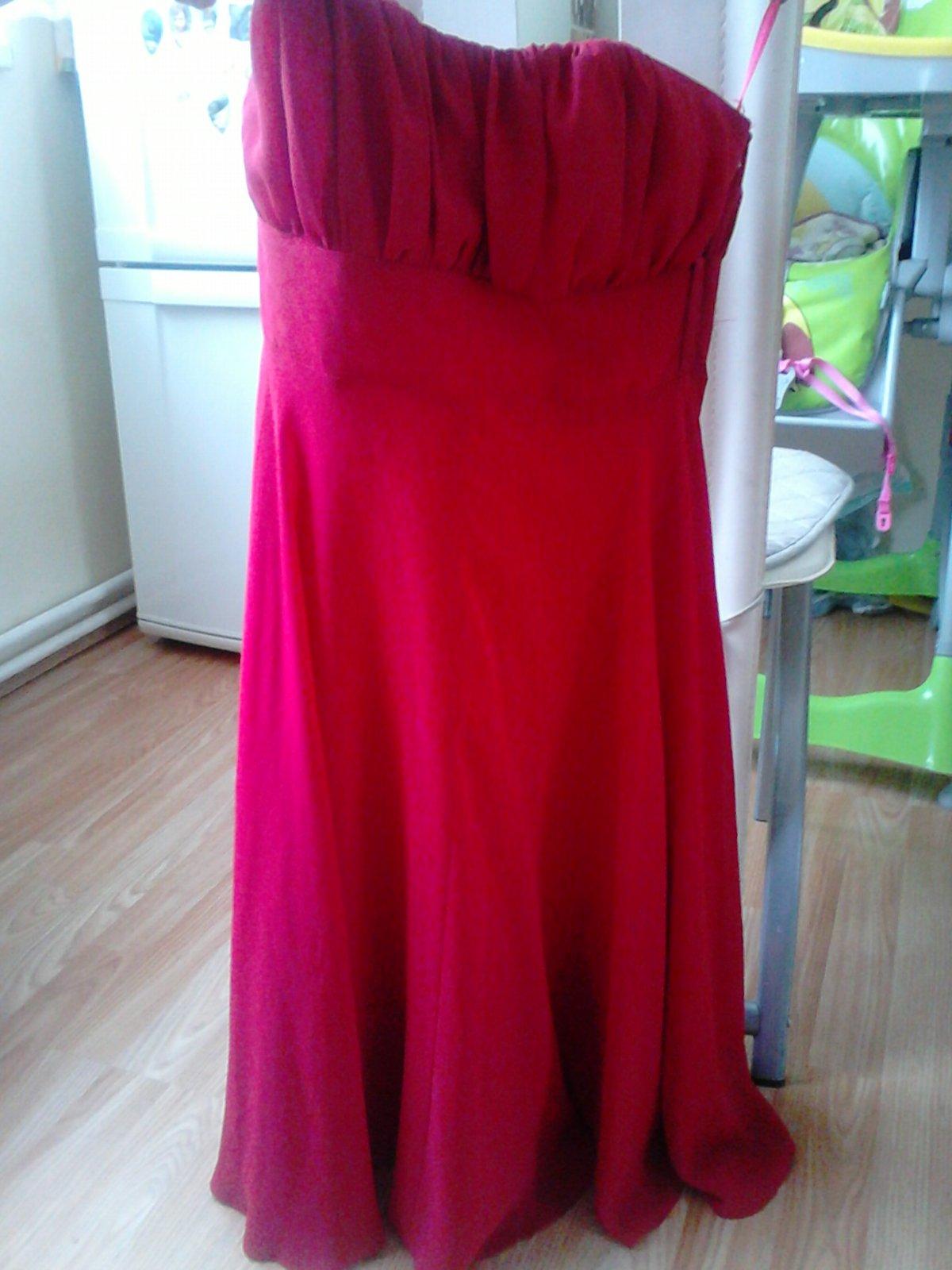 Výrazné červené šaty vel. 36 - Obrázok č. 3