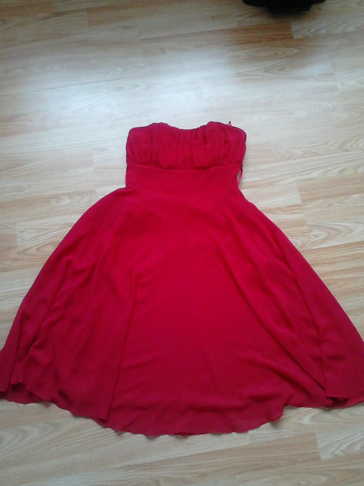 Výrazné červené šaty vel. 36 - Obrázok č. 4