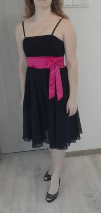 Spoločenské šaty čierne vel. M zn. Carina - Obrázok č. 1