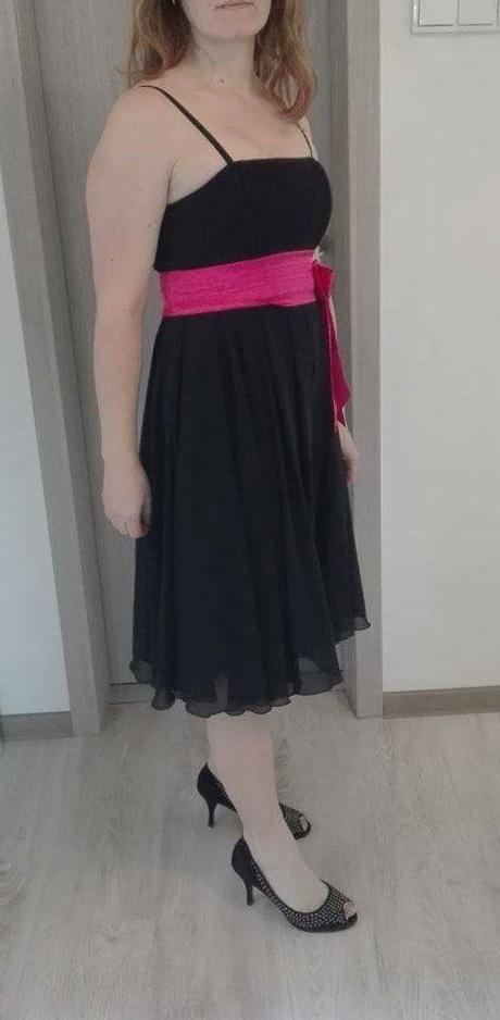 Spoločenské šaty čierne vel. M zn. Carina - Obrázok č. 2