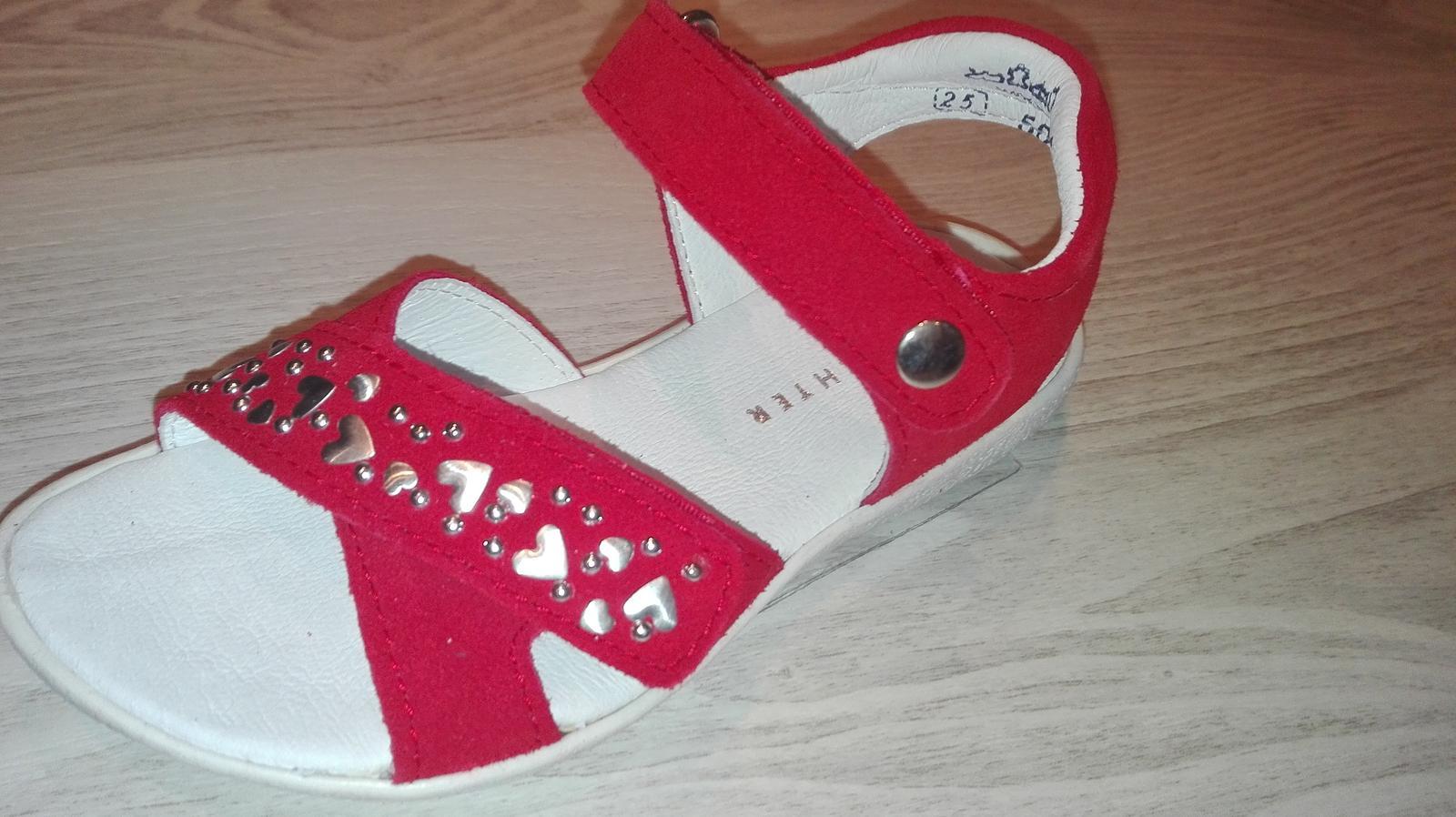 Kožené sandálky č. 25 zn. Richter červené - Obrázok č. 2