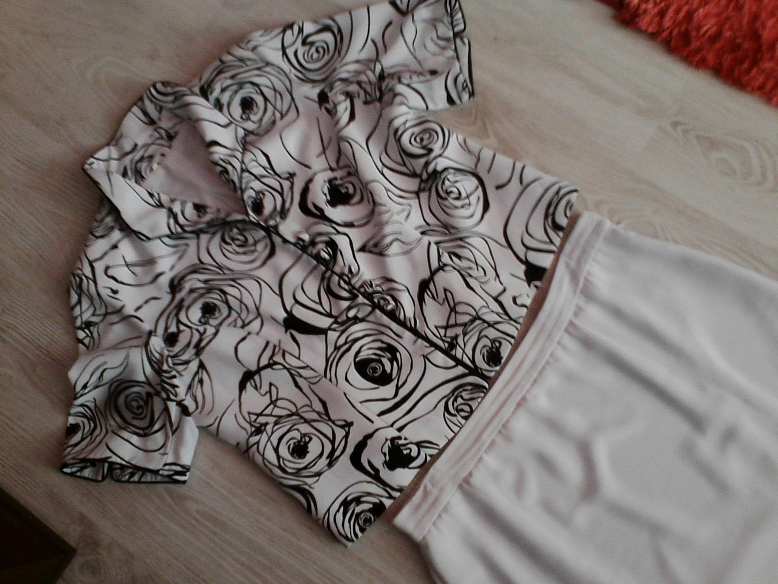 Kvalitný sukňový kostým v. 46 biely - Obrázok č. 1