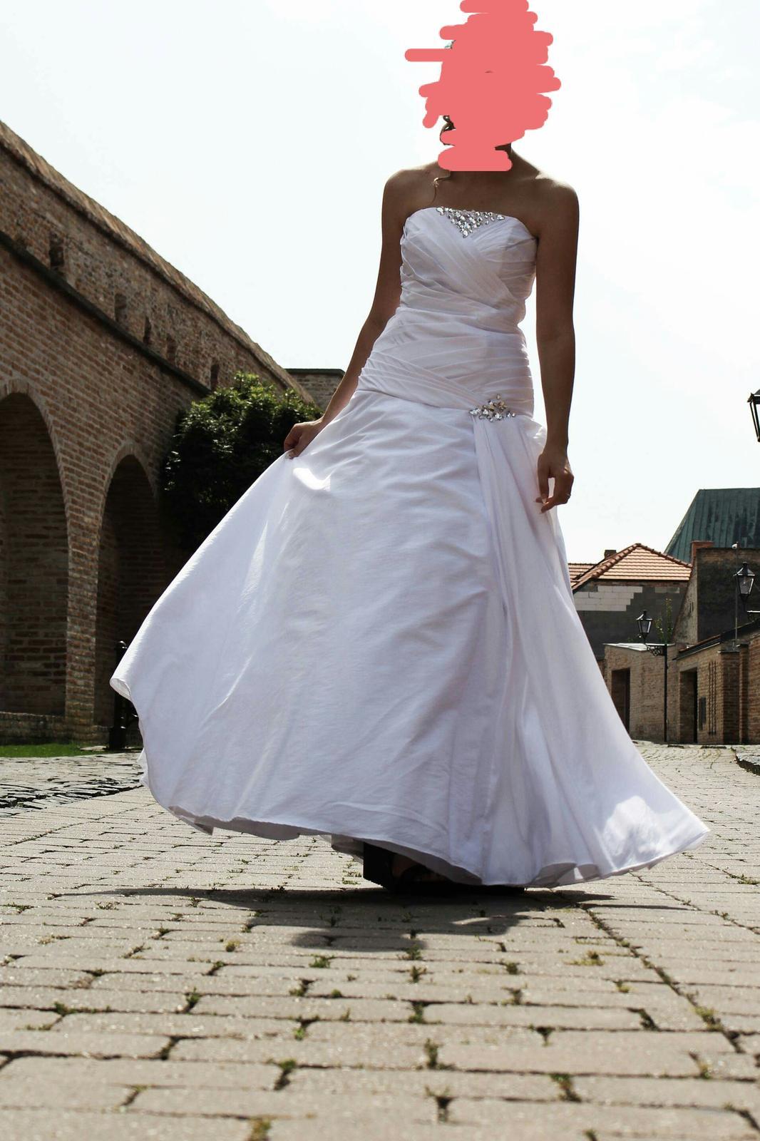 Svadobné šaty veľ. 36-40 - Obrázok č. 1