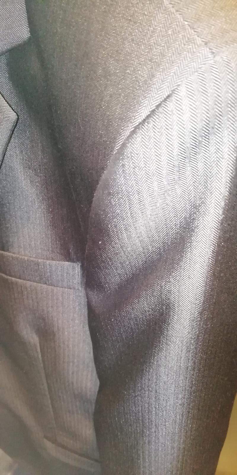 Pánsky oblek slim fit veľ. 48 lesklý - Obrázok č. 4