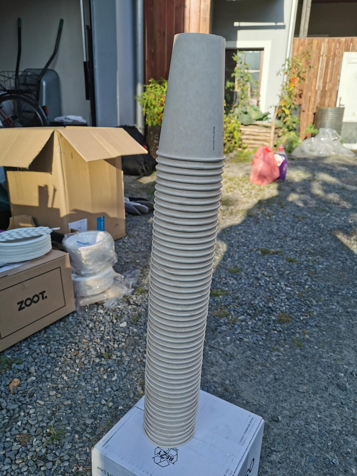 Eko kelímky 470 ml, asi 50 ks - Obrázek č. 1
