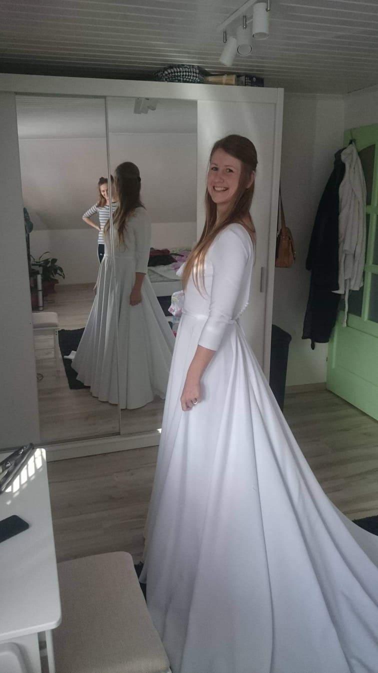 Predám Svadobné šaty 36/38/40 - Obrázok č. 3