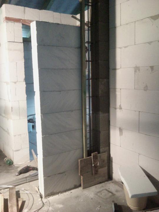 Vnútorné práce - rozvody vody a kúrenie, podlaha - čiastočne vymurované